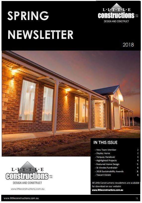 Little Constructions Spring Newsletter 2018