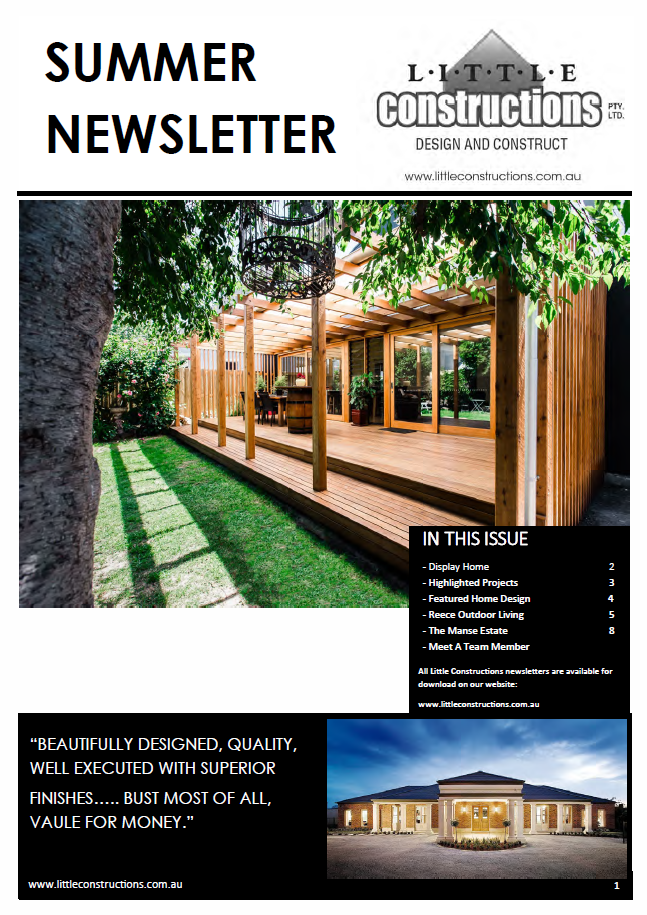 Little Constructions Summer Newsletter 2018