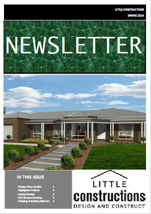 Little Constructions Spring Newsletter 2019