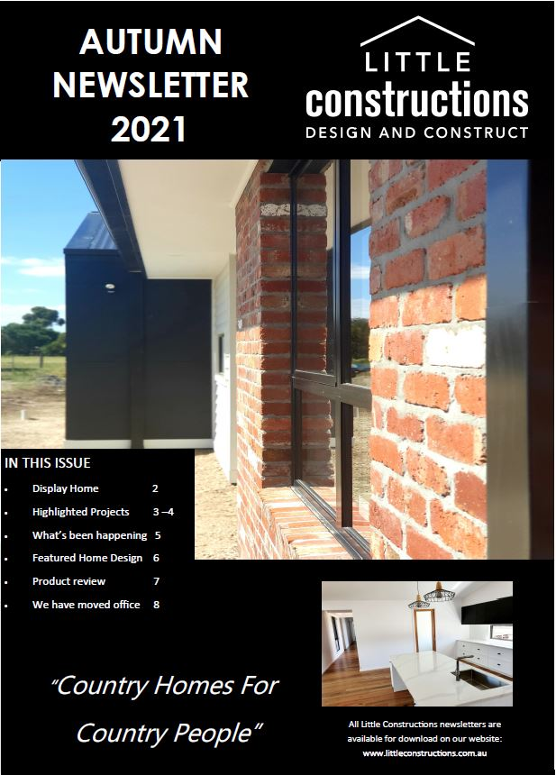 Little Constructions Autumn Newsletter 2021